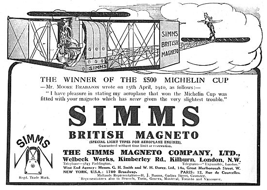 Simms Magneto - Fitted To The £500 Michelin Prize Winning Machine