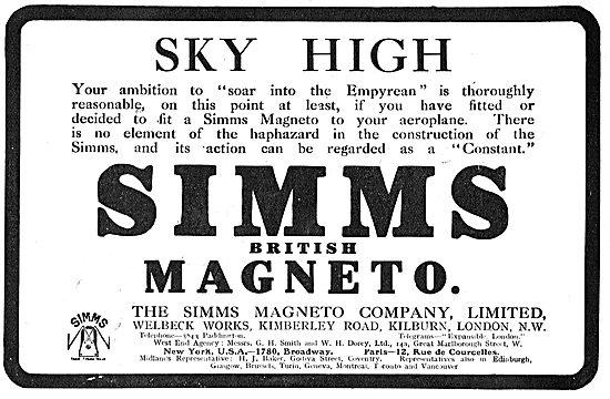Soar Into The Empyrean With Simms Aeroplane Magnetos