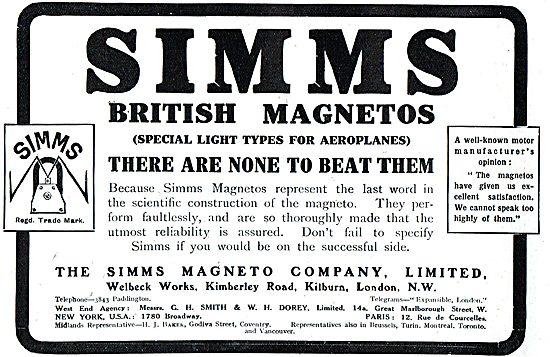 Simms British Aeroplane Magnetos - None Better