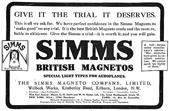 The Simms Aeroplane Magneto - Give It The Trial It Deserves