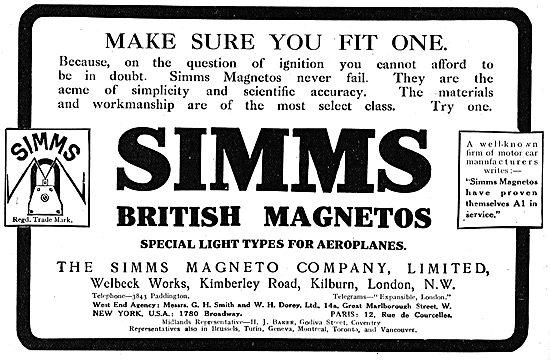 Simms British Aeroplane Magnetos - Make Sure You Fit One!