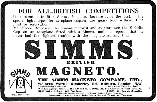 Simms Magnetos For All-British Competitions