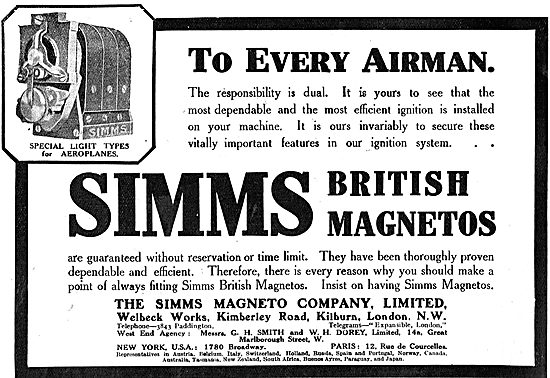 Simms Magneto For Resonsible Airmen