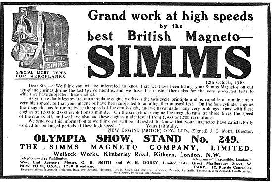 For Grand Work At High Speeds Choose Simms Magnetos