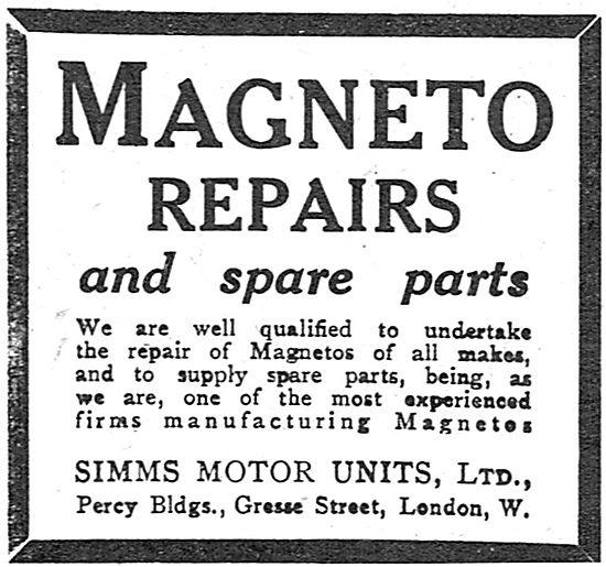Simms Aero-Engine Magneto Repairs & Spare Parts