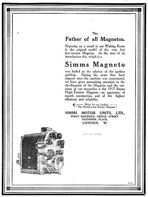 Simms Magnetos WW1