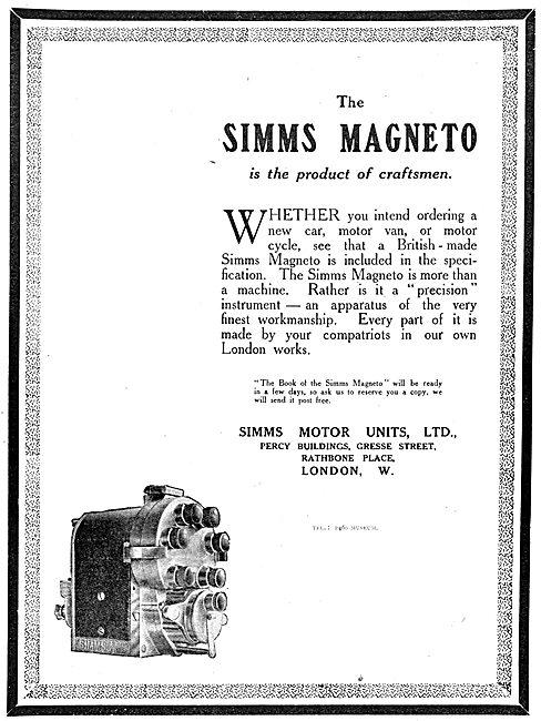 Simms Magnetos 1917