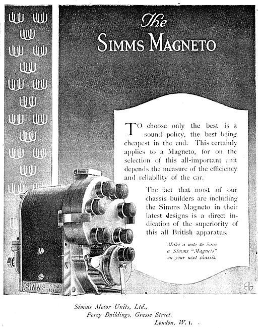 Simms WW1  Aero Engine Magnetos
