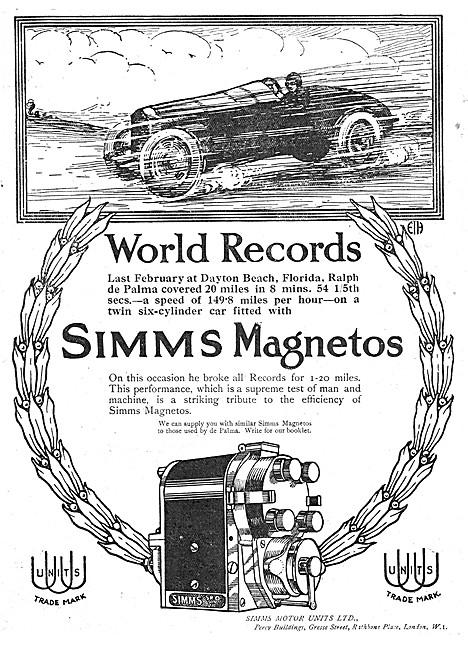Simms Motor Units - Simms Magnetos