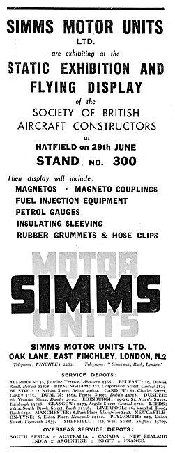 Simms Motor Units - Magnetos, Gauges & Fuel Injection Eqpt