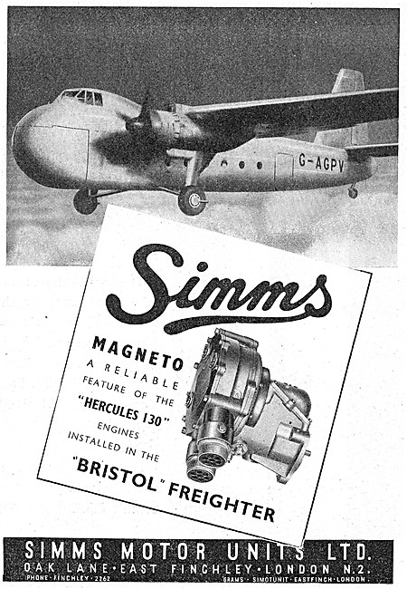 Simms Aero Engine Magnetos 1946
