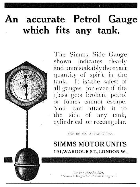 Simms Magnetic Petrol Gauges 1916