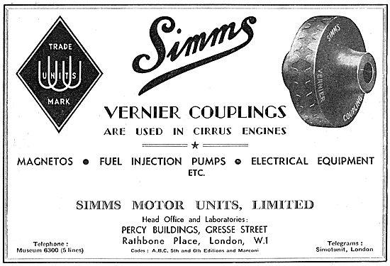 Simms Motor Units - Simms Vernier Couplings