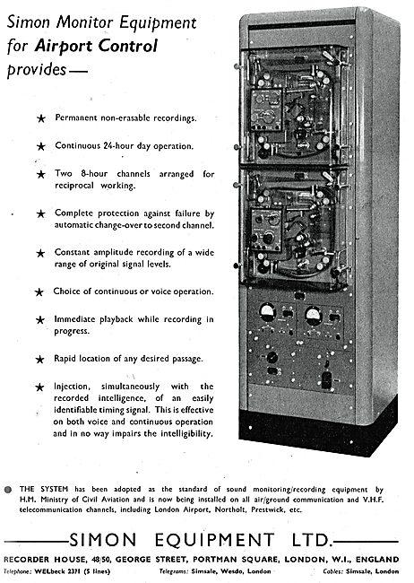 Simon Equipment ATC Airport Control Monitoring Equipment