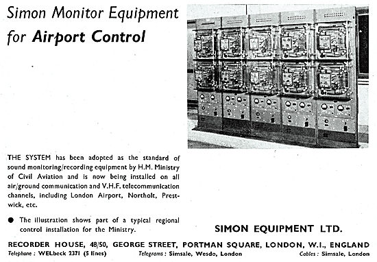 Simon Equipment ATC Airport Control Monitoring Equipment