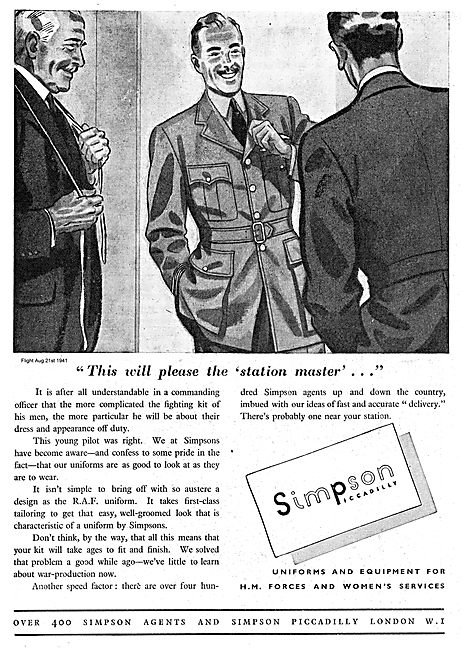 Simpsons Of Picadilly For RAF Officers Uniforms