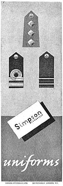 Simpsons Of Picadilly Military Outfitters 1947