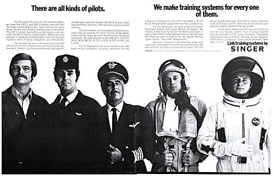 Singer Link Flight Simulators