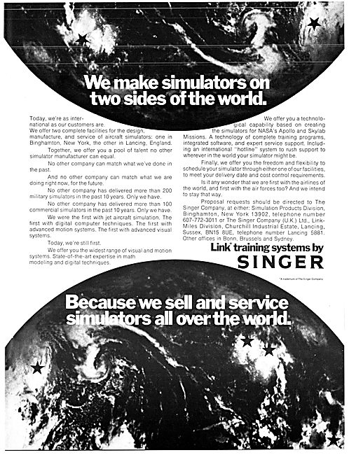 Singer Link Flight Simulators  1975