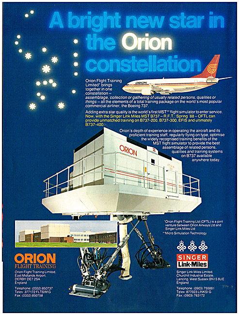 Singer Link-Miles Flight Simulators - Orion Airways