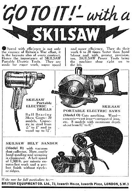 British Equipment  - Skilsaw Hand Tools. Sklisaw Power Tools
