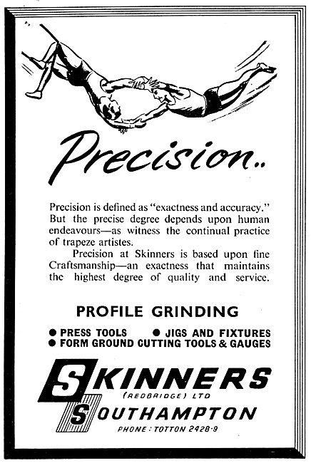 Skinners Redbridge. Jigs, Fixture & Machine Tools