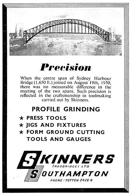 Skinners Southampton. Jigs, Fixture & Machine Tools