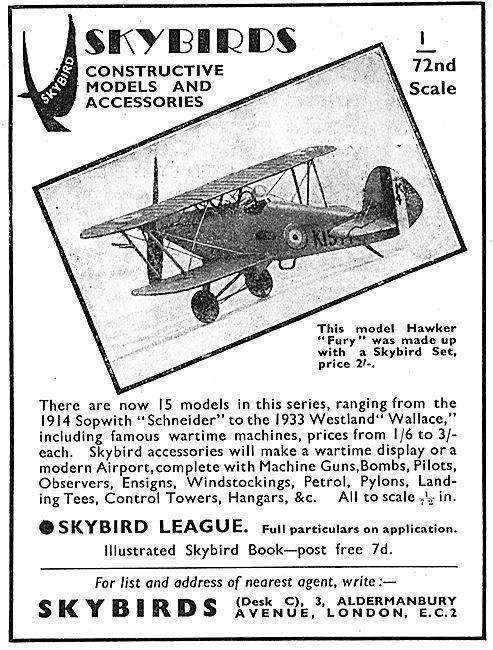 Skybirds hawker Fury Model Aircraft