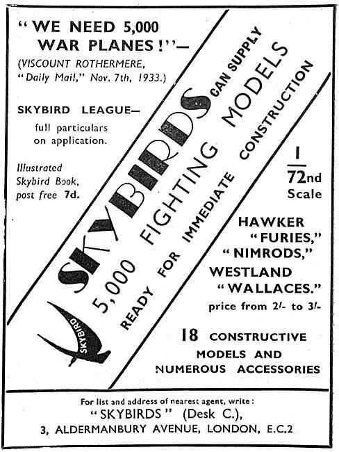 Skybirds Westland Wallace Model 1/72nd Scale