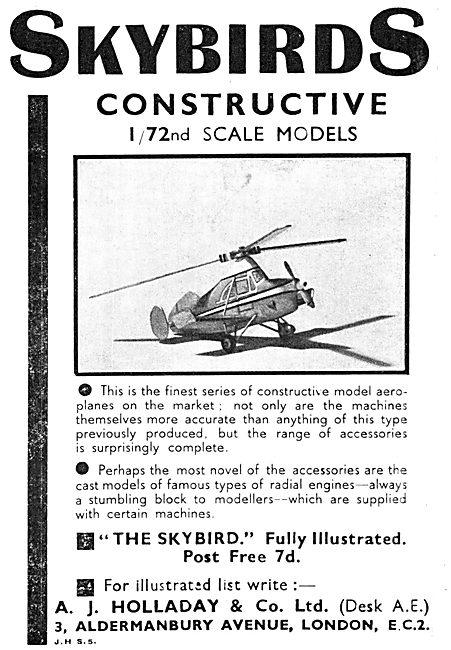 Skybirds 1/72 Scale Aircraft Models 1933