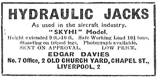 Skyhi Aircraft Jacks - Edgar Davies Liverpool