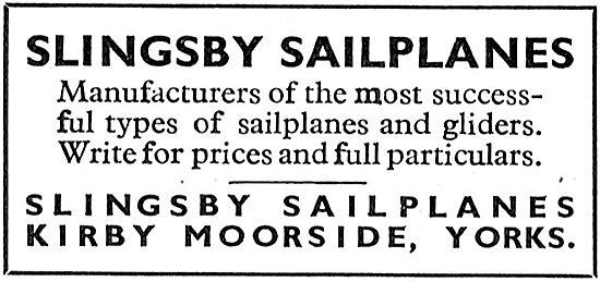 Slingsby Sailplanes - Kirby Moorside