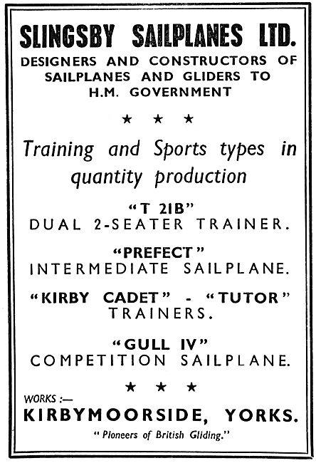 Slingsby T21B Prefect Kirby Cadet Gull IV