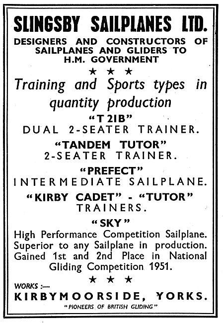 Slingsby T21B Tandem Tutor Prefect Kirby Cadet Sky