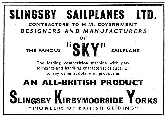 Slingsby Sailplanes - Slingsby Sky Sailplane