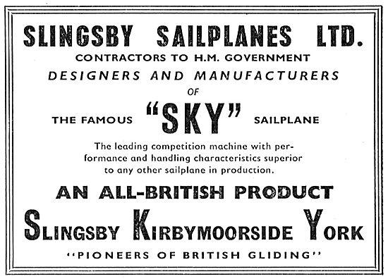 Slingsby Sailplanes Ltd - SKY