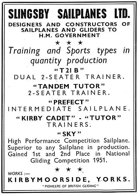Slingsby Sailplanes - Tutor - Cadet