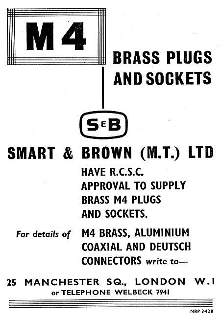 Smart & Brown RCSC Approved Brass M4 Plugs & Sockets