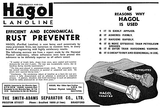 Smith-Adams Hagol Lanoline Rust Preventer