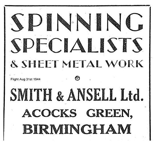Smith & Ansell Ltd Spinning & Sheet Metal Work