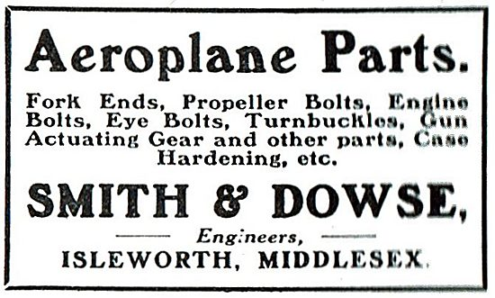 Smith & Dowse. Isleworth - Engineers. AGS & Aircraft Parts
