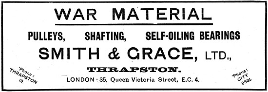 Smith & Grace Ltd. Thrapston - Factory Machinery & Equipment