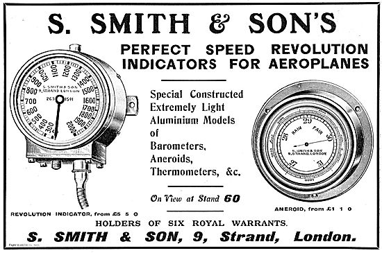 Smiths Perfect Speed Revolution Indicators For Aeroplanes