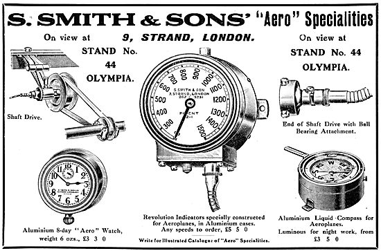 S.Smith & Sons. Smiths Aircraft Instruments 1913