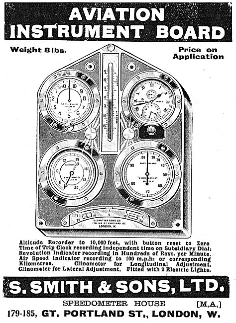 Smiths Aviation Instrument Panel