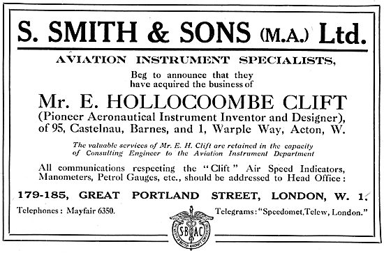 S.Smith Acquires The Business Of Mr E.Hollocoombe Clift 1917