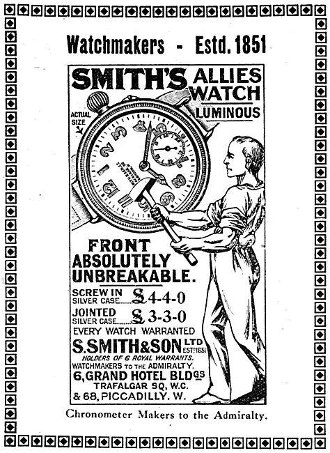 Smiths WW1 Allies Wristwatch 1917 Advert