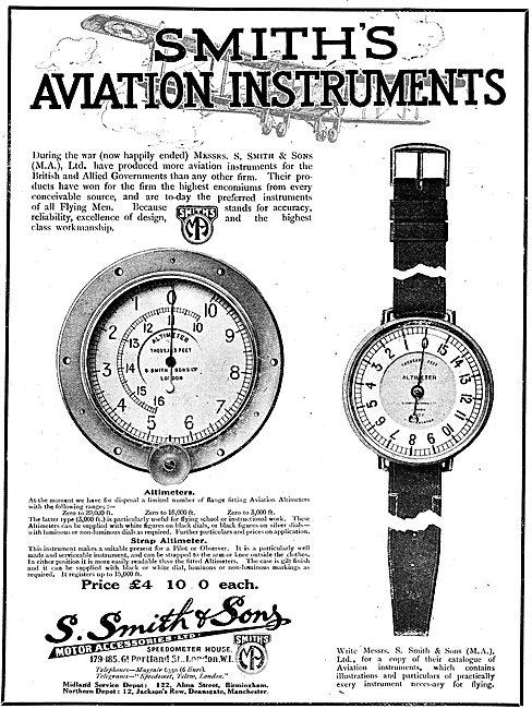 Smiths Aircraft Panel Mounted  Altimeter: Smiths Strap Altimeter