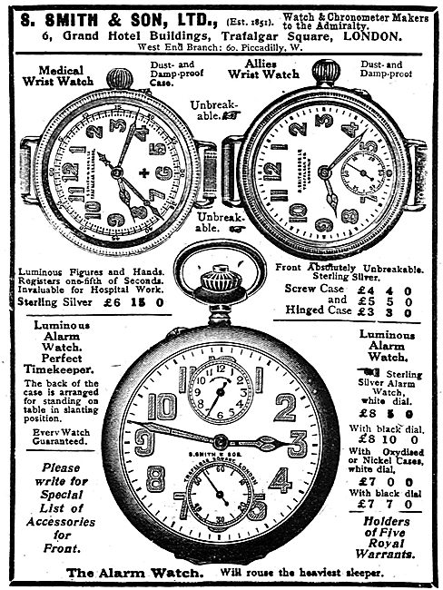 Smith's Pilot's Wrist Watches