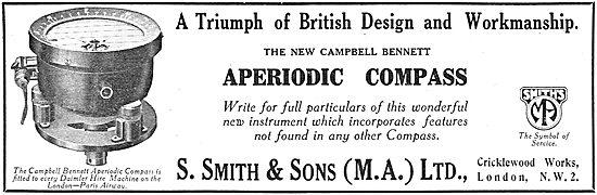 Smiths Campbell Bennett Aperiodic Aircraft Compass